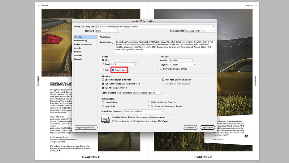 export pdf file as spreadsheet