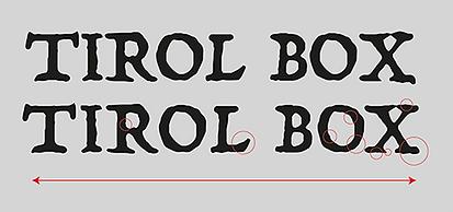 Tirol Box schriftzug