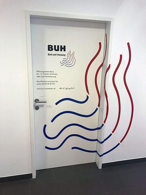 plumber door sticker
