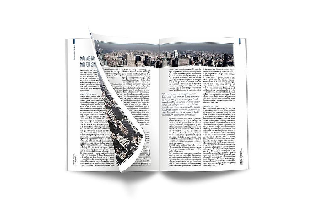 grid, editorial design, magazine, print, paper, architecture