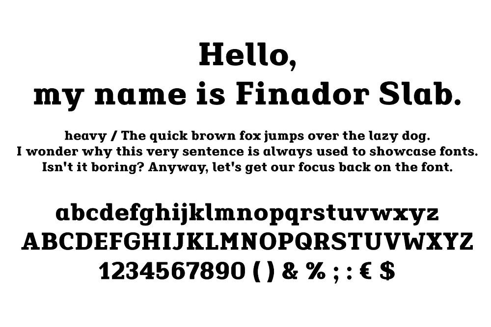 Finador Slab font