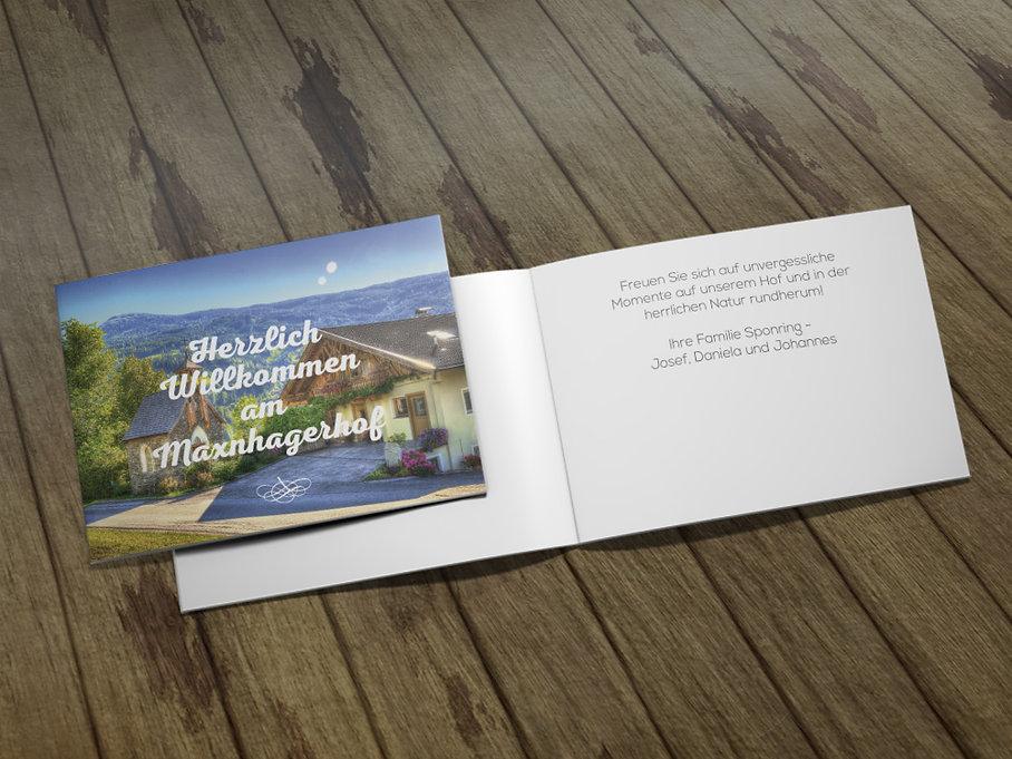 urlaub maxnhagerhof willkommenskarte