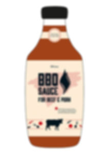 bbq sauce packaging design