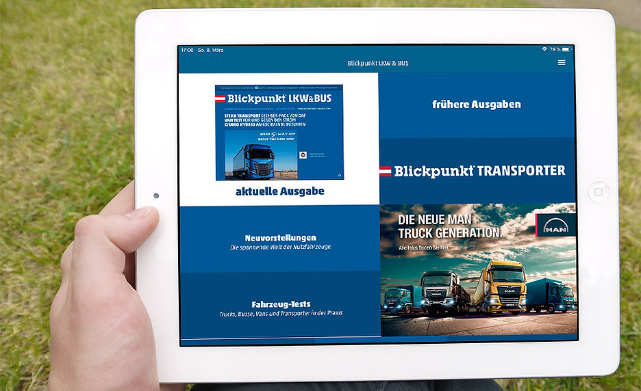app design transport magazin
