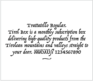 tirol box typografie trattatello