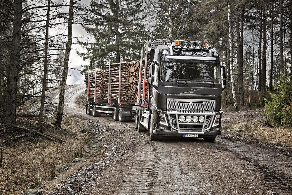 Volvo FH750 auf der Holzmesse Klagenfurt