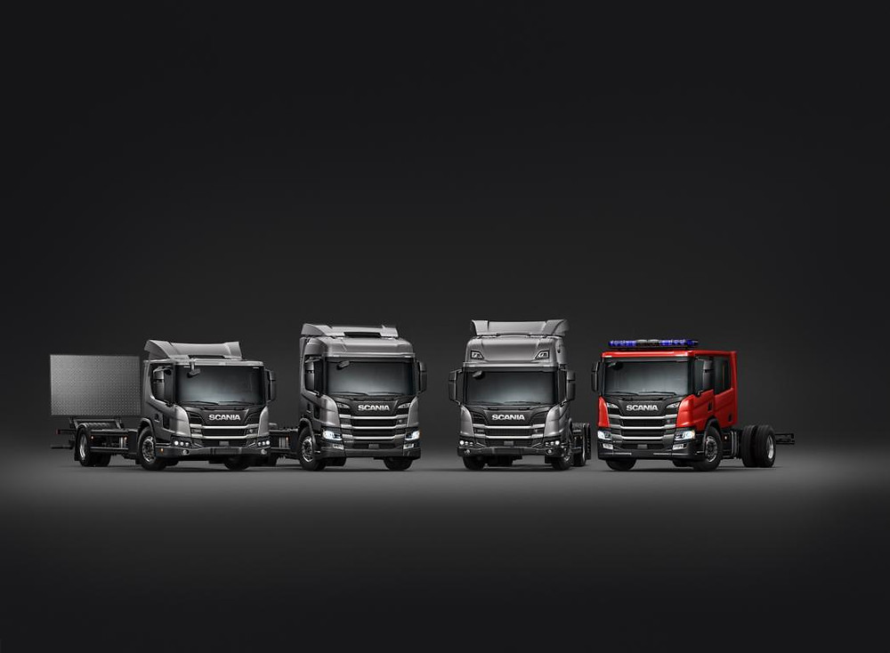 Scania-Fahrzeuge für nachhaltigen Verkehr in Städten