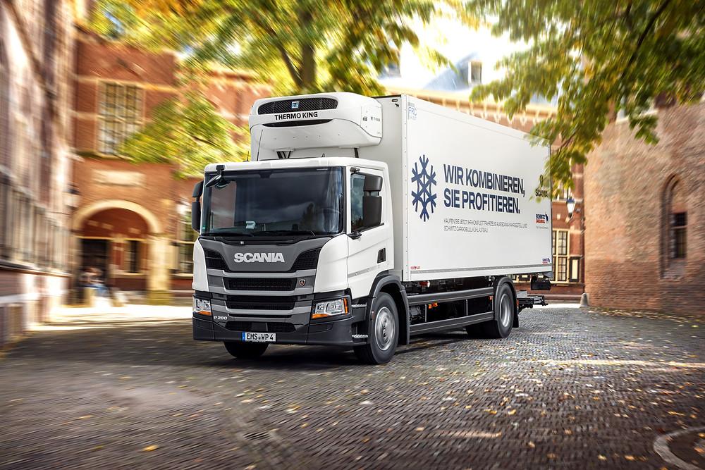 Scania mit Kühlaufbau