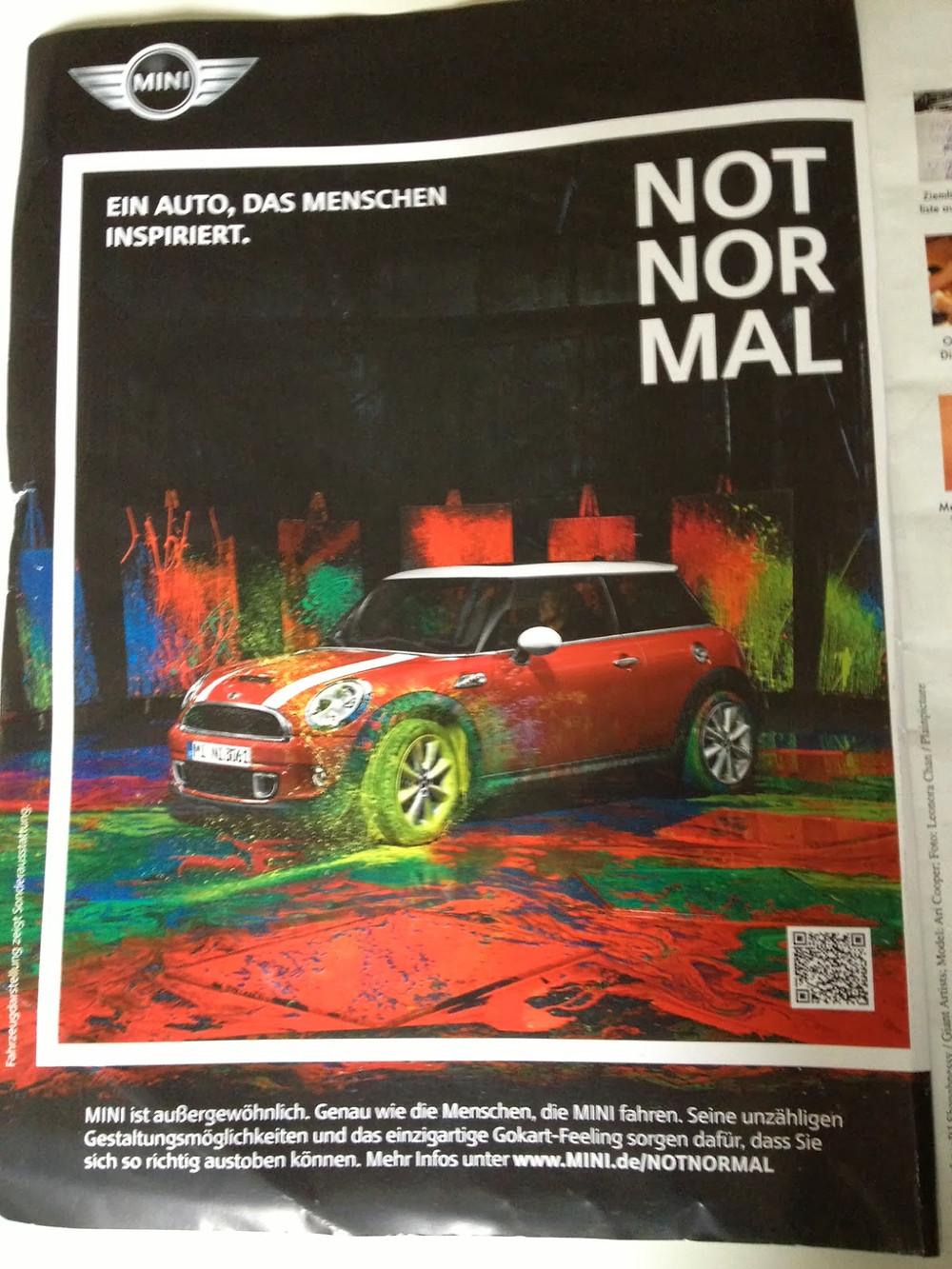 mini advert print