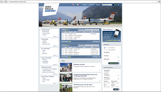 innsbruck airport website
