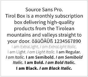 tirol box typografie source sans pro