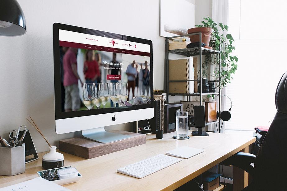 webdesign online shop weinhandel