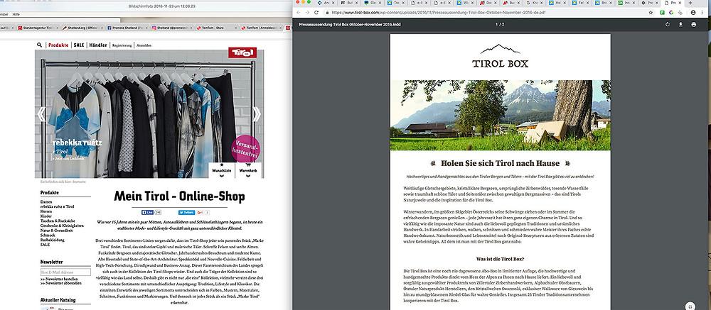 Tirol Werbung nearly copies Tirol Box