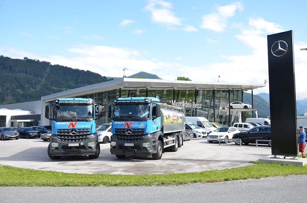 Milchsammel-Transporte Mercedes-Benz Arocs Pinzgau