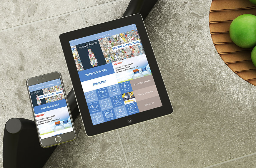 digital publishing PET recycling app magazin design