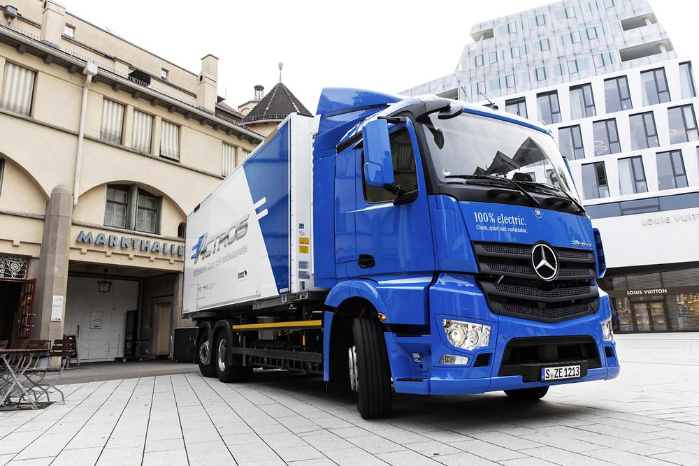 Mercedes-Benz eActros in Erprobung