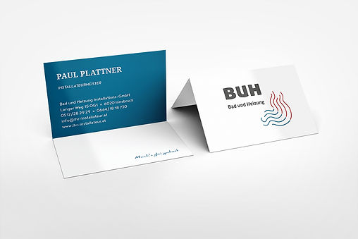 plumber business cards blue