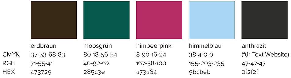 secondary colours brand design Dr. Gasser-Puck
