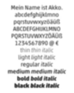 akko pro font