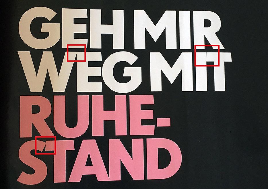 Überschrift Barbara Zeitschrift Typografie