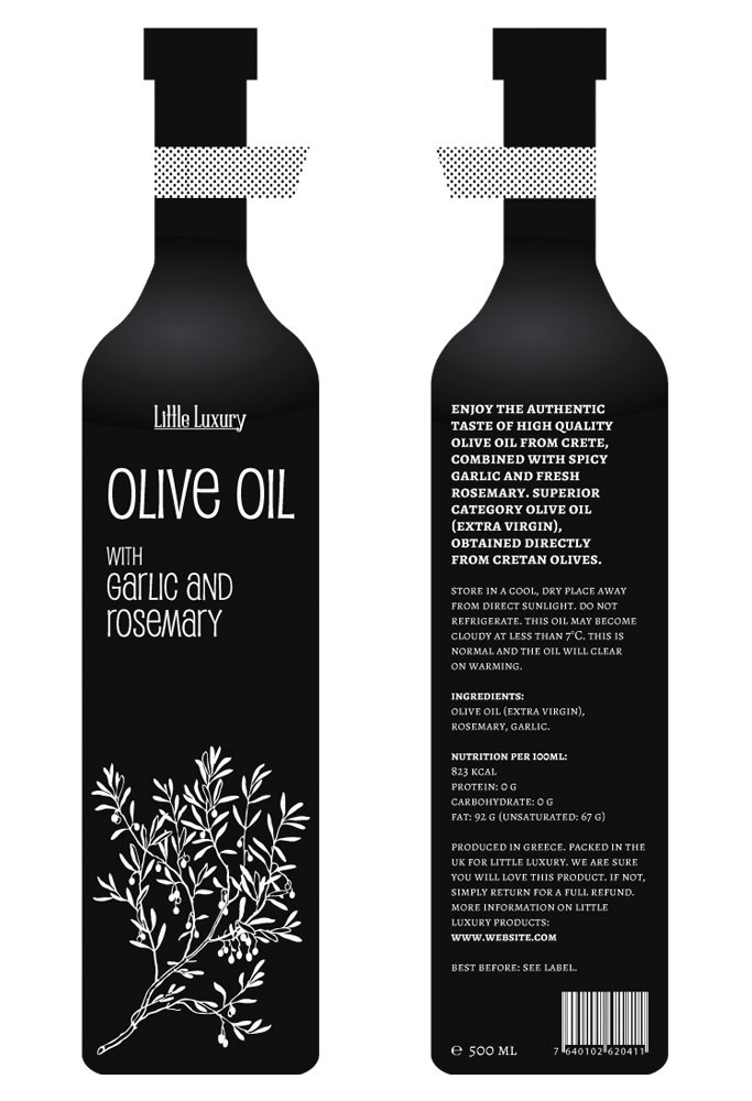 pupcat olive oil packaging