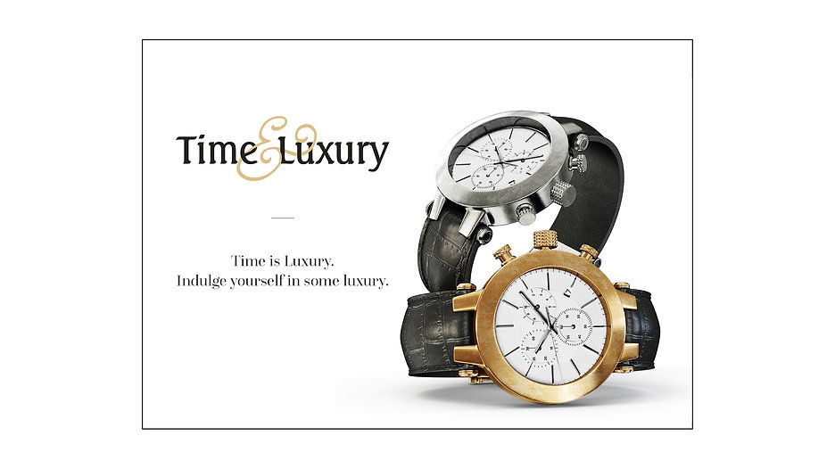 typography luxury watch