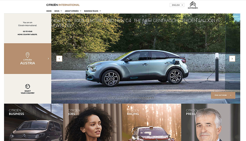Citroen website design