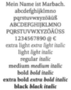 marbach font