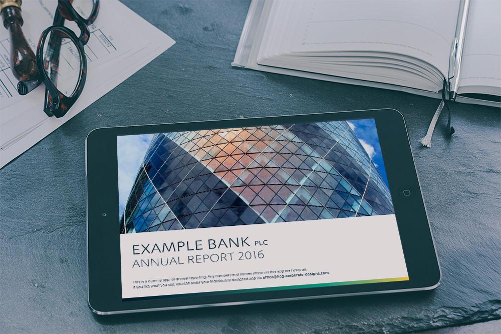 annual report design app