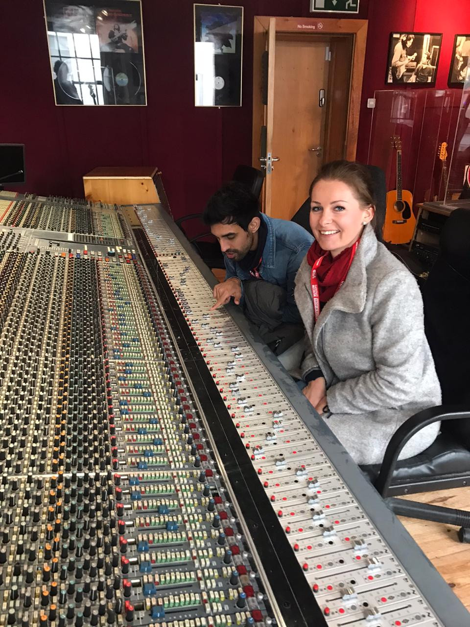 DJ Arsenik and Helene Clara Gamper at the Irish Rock'n'Roll Museum Experience in Dublin