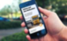 app magazine design transport industry