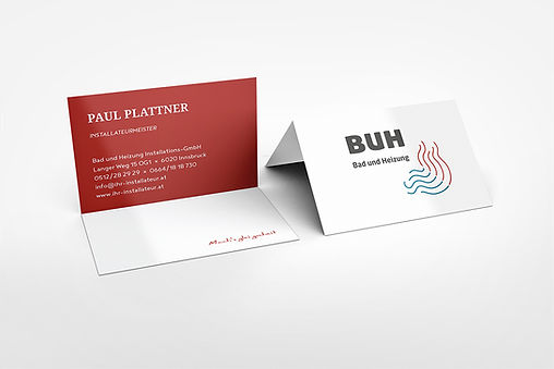 plumber business cards red