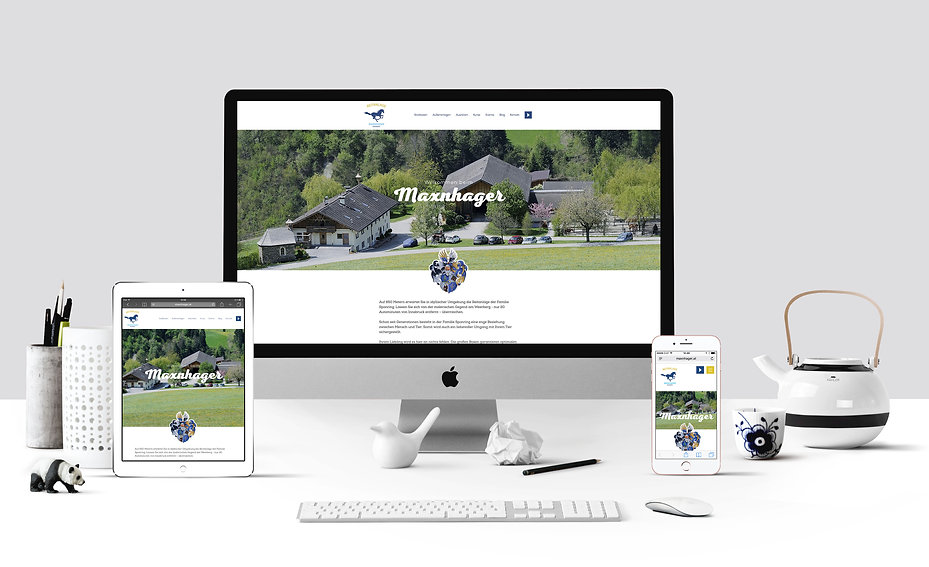 maxnhager responsive web design riding stable