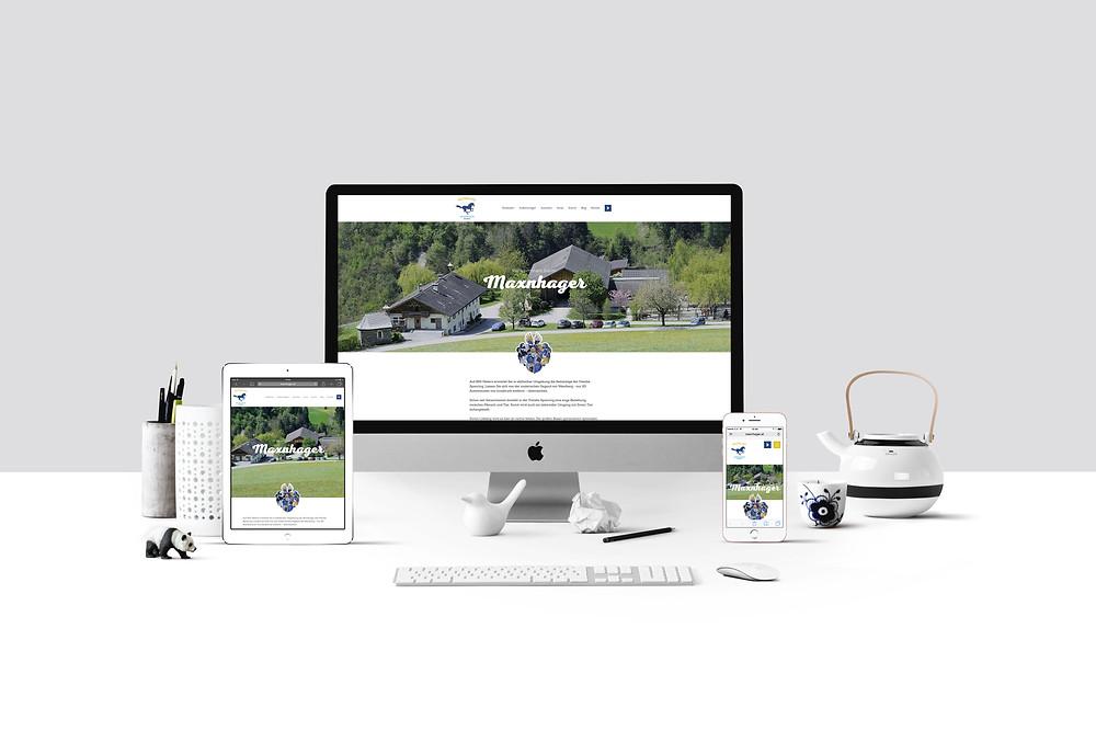 responsive web design riding stable maxnhager