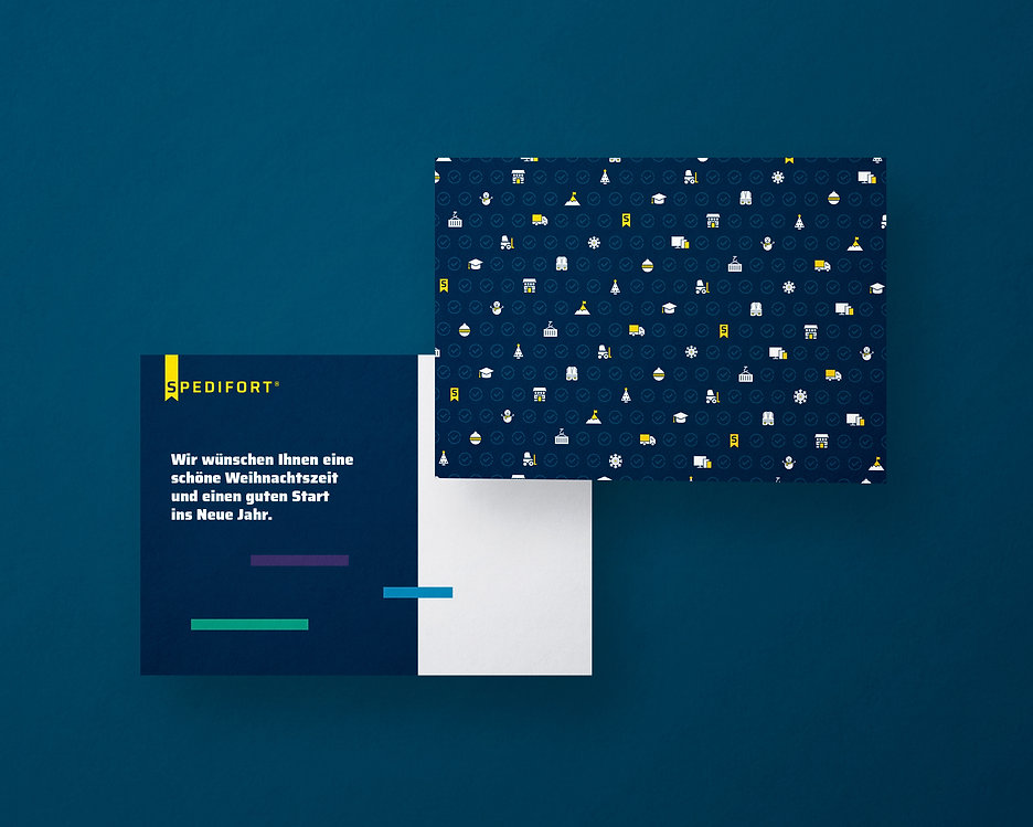 xmas postcard design