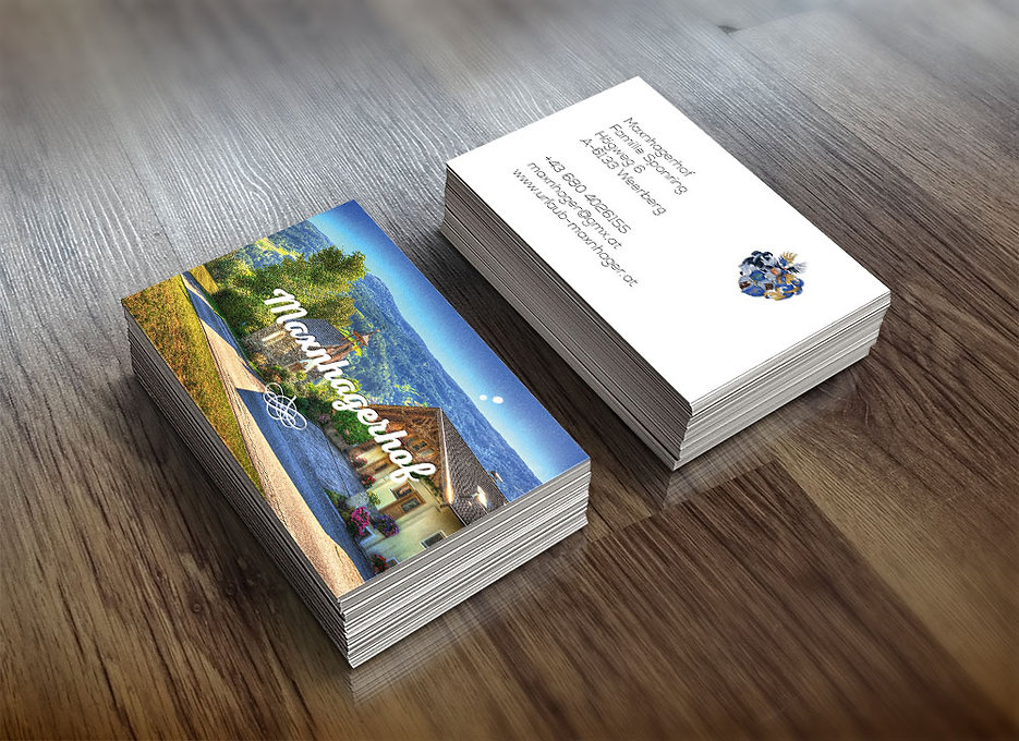 urlaub maxnhagerhof visitenkarte