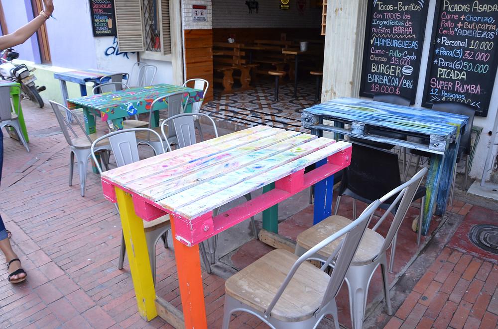 restaurant furniture in Santa Marta, Colombia