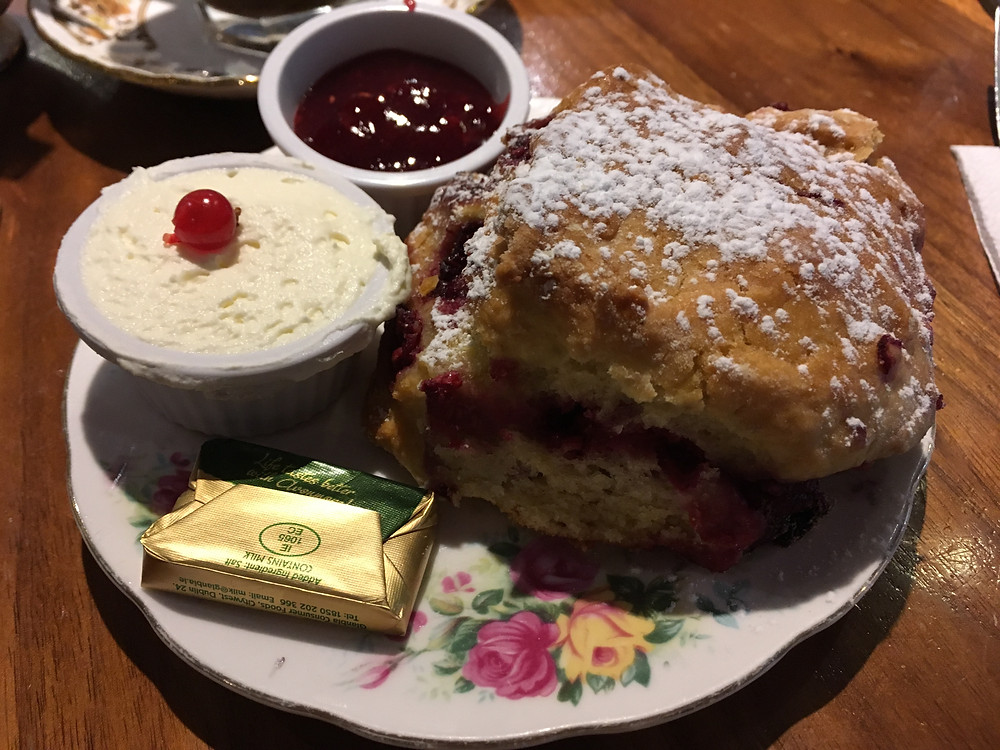raspberry scone at Queen of Tarts Dublin