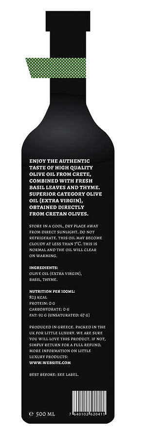 little luxury olive oil packaging design