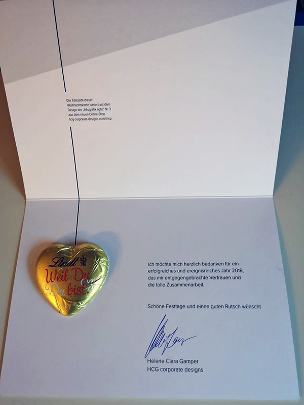 Christmas card chocolate heart