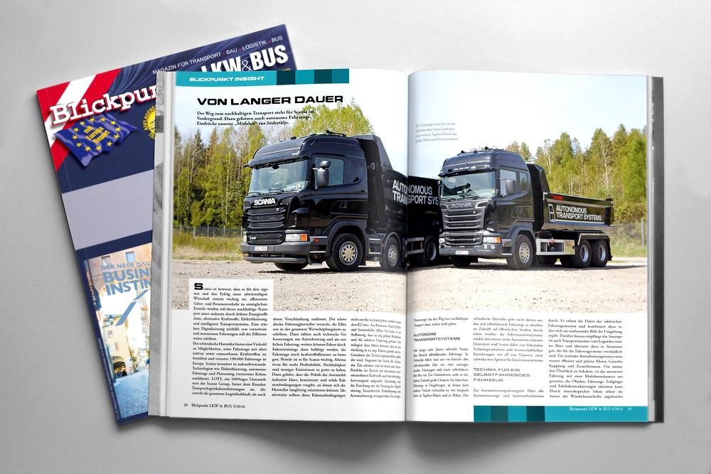 editorial design Blickpunkt LKW+BUS print