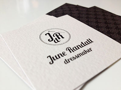 june randall dressmaker corporate design visitenkarte gut
