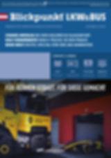 Titelseite Blickpunkt LKW und BUS 8/2018