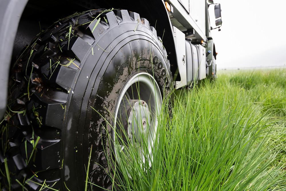 Goodyear-Reifen auf Weltreise
