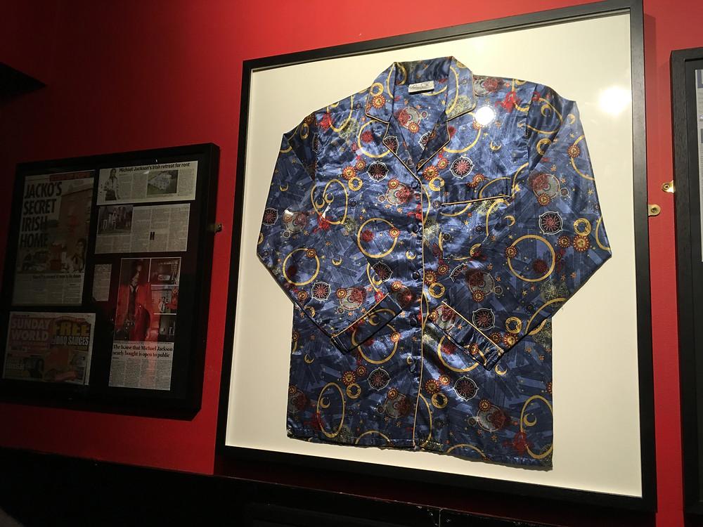 Michael Jackson pyjama at the Irish Rock'n'Roll Museum Experience Dublin