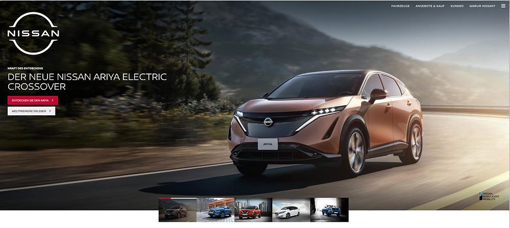 Nissan website design