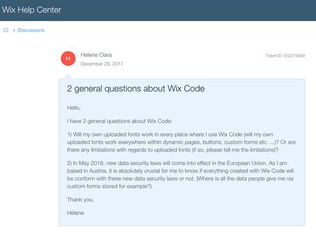 WIX Code: my experiences