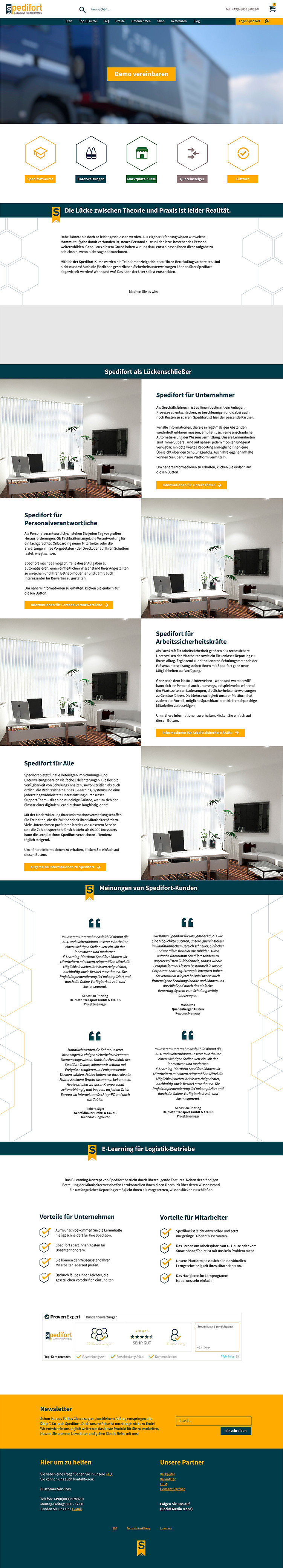 Spedifort Webdesign