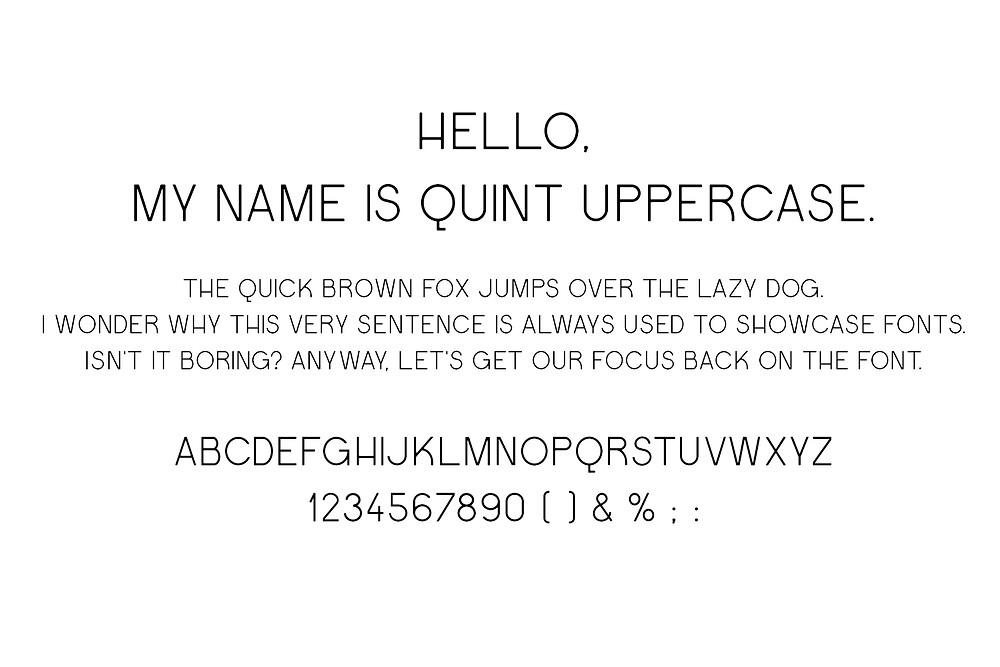Quint Uppercase font