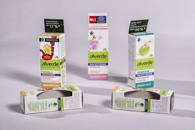 alverde cosmetics packaging